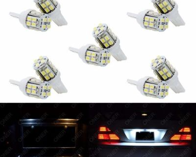 10 X T10 Xenon White 20 Smd Led 168 194 W5w For Chevrolet License Plate Lights C