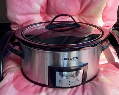 Crock Pot-Programmable Slow Cooker, Stainless.