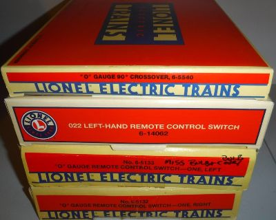 Vintage Lionel trains O gauge /scale Remote Control Switch AND/OR Crossover Track