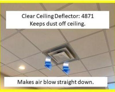 CEILING AIR & DUST DEFLECTORS