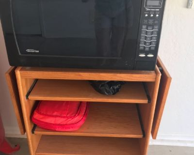 Microwave with cart