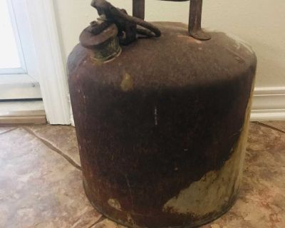 Antique Metal Gas Can for Decor