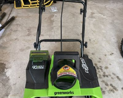 """Brand New 20"""" Electric Snow Blower 40V WITH battery and charger"""
