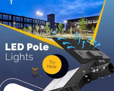 Purchase Now LED Pole Lights For Parking Lot Lights