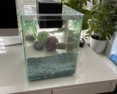 Chi Fluval Aquarium 5 gallons works perfect with Led light