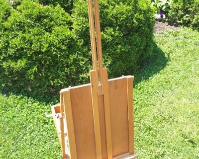 Artist easel portable and supplies