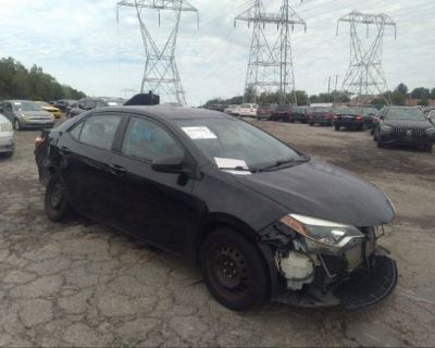 Salvage Black 2014 Toyota Corolla