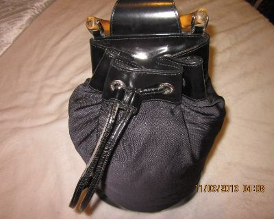 Authentic GUCCI Bamboo Black Leather Rucksack Backpack