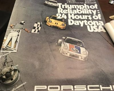 Vintage Porsche Factory posters