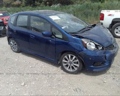 Salvage Blue 2013 Honda Fit