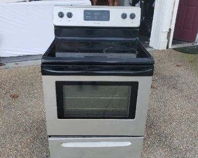 Stainless steel electric glass top stove