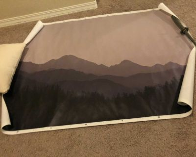 Large painting can be framed or hung up as is