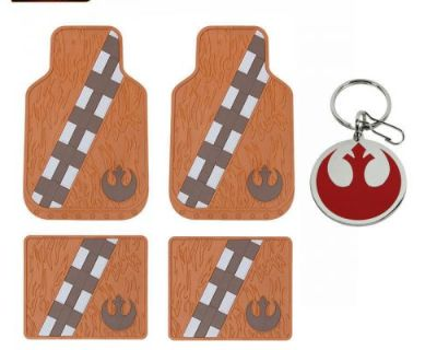 New 5pc Set Star Wars Chewbacca Car Truck Front Rubber All Weather Floor Mats