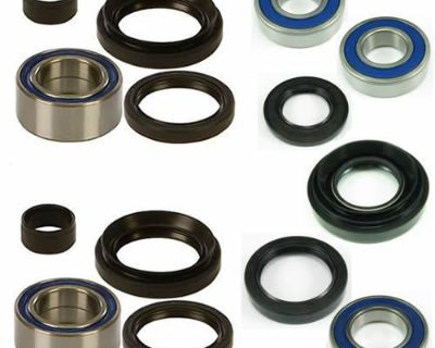 Wheel Bearing Front And Rear Seal Complete Kit For Trx350fe 2000-2006