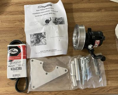 Coyote 5.0 hydraulic power steering conversion