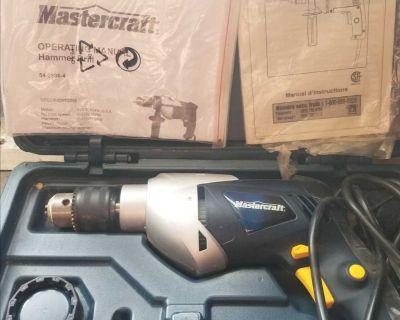 "Mastercraft 1/2"" Hammer Drill + 100 bit set - New"