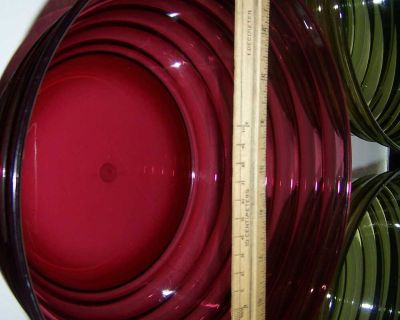 3 Large Acrylic Mixing/Serving Bowls
