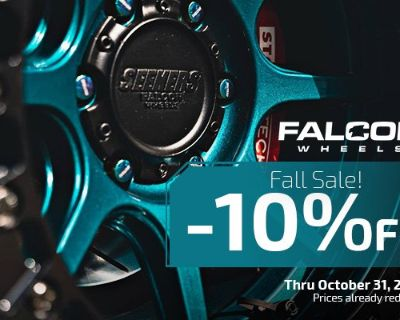 Get out exploring with a set of Falcon Wheels + 10% Discount at CARiD