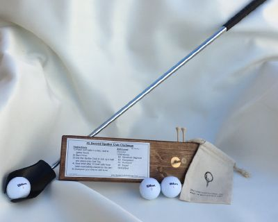Christmas Present Golf Game set for your favorite person,  Spotter Club Game Set