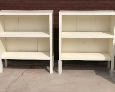 Pair of White Bookcases