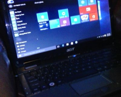 ACER LAPTOP FOR SALE 500GB. HARD DRIVE 4GB.RAM WIFI NEED A GOOD BATTERY THANK YOU.