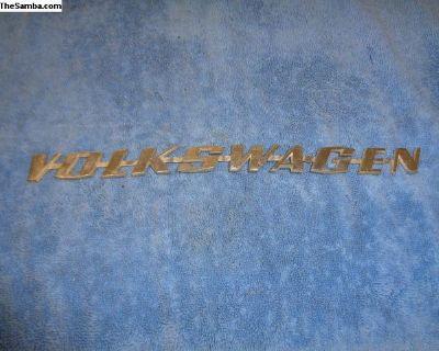 Volkswagen Type 3 Script Emblem 311853687C