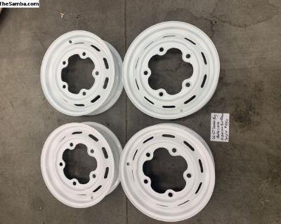 66-67 slotted wide 5 wheels restored powder coated