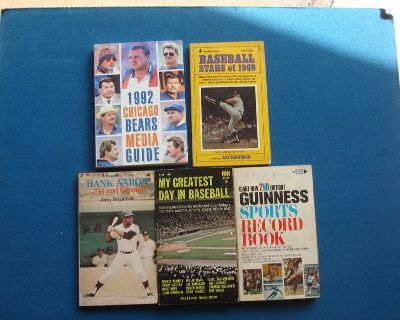 FIVE OLD SPORTS RELATED PAPERBACK BOOKS