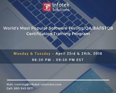 Software Testing/QA/BA/ISTQB Certification Training Program