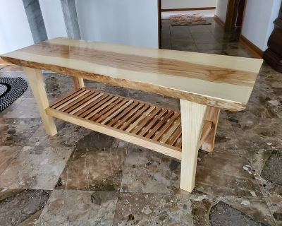 Coffee Table with Live Edge