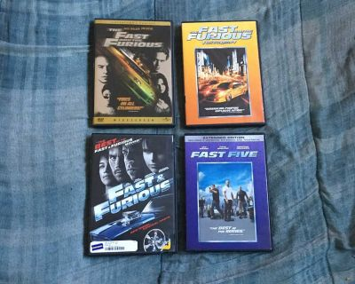 Lot Of 4 Fast & Furious DVDs