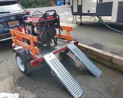New Honda EB6500 Gen with new utility trailer