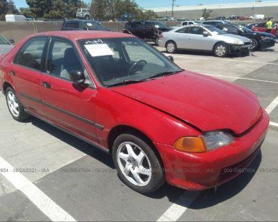 Salvage Red 1995 Honda Civic