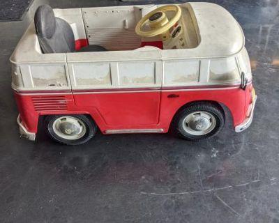 VW bus toy pedal car