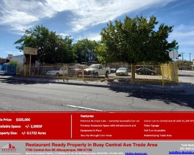 Restaurant Ready Property in Busy Central Ave Trade Area