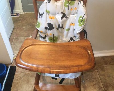 Vintage all wood high chair