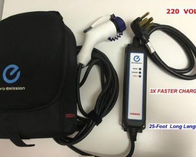 3xfaster Charge Level2 Evse Upgraded Ev 220volt Charger Nissan Leaf Volt 25'long