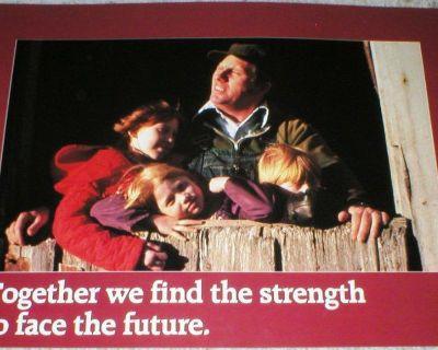 """Together we Find the Strength to Face....."" Vtg Motivational Poster - 1987"