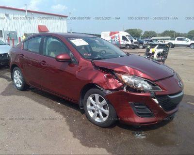 Salvage Maroon 2010 Mazda Mazda3