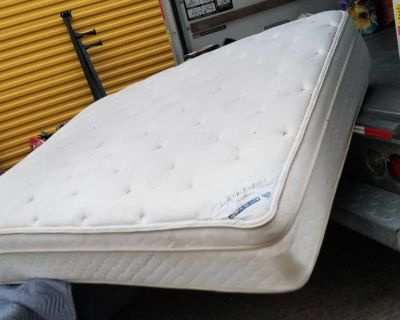 Complete Queen Size mattress boxspring and frame and headboard Will deliver for extra charge excellent condition from Rooms to Go
