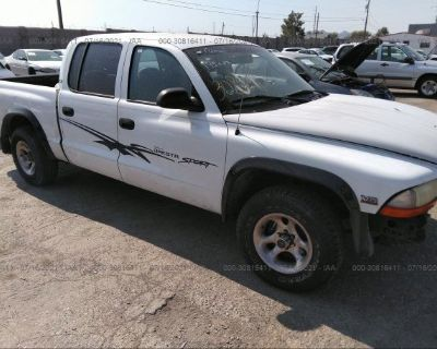 Salvage White 2000 Dodge Dakota