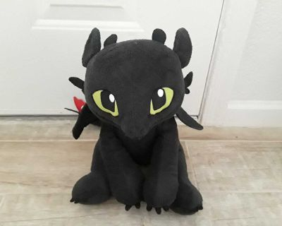 Build A Bear How To Train Your Dragon Toothless Plush With Original Wings & Tag