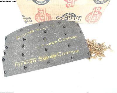 Bus 1956-1960 NOS Frendo Front Brake Shoe Linings