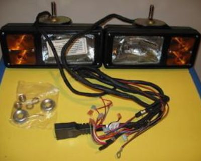 Western Unimount Mvp 12-pin Snow Plow Lights- New With Harness 66611