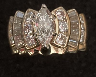 14K Gold Wedding and Engagement Ring