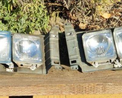 Set of Square Headlights