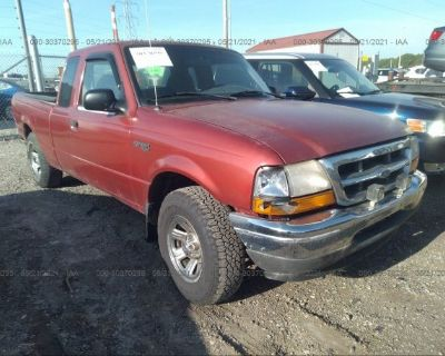 Salvage Maroon 2000 Ford Ranger