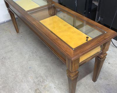 Vintage Brandt Curio Case Display Sofa Table (REDUCED)