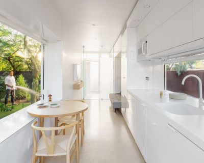 Award Winning Design, Modern Minimalist Guest House in Lush Urban Garden: KBOX, Phoenix, AZ
