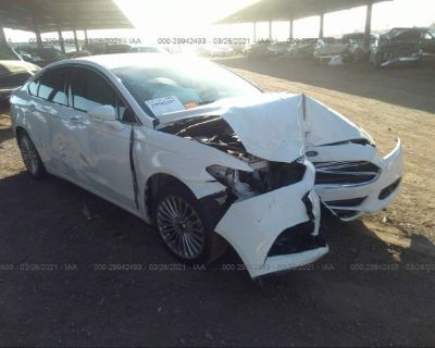 Salvage White 2016 Ford Fusion
